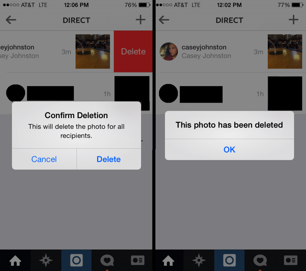How to delete messages on Instagram